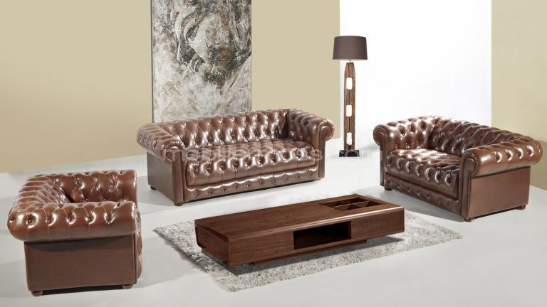 vivaldi cuir bycast cafe fonce vintage design chestefild mobilier moss profil choco haut