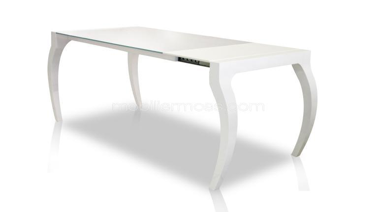 Table en verre tremp design weighty mobilier moss for Table de salle a manger 16 personnes