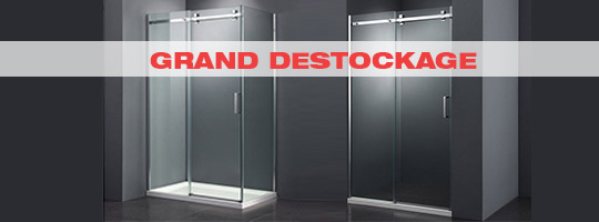 Grand destockage parois de douche