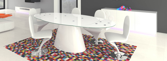 Table de salle a manger vente de table design mobilier - Table a rallonge pour 16 personnes ...