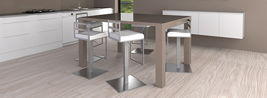 Table haute lot central mange debout mobilier moss for Table de salle a manger haute