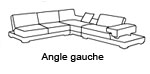 Canap� d'angle design Andalucia Gauche