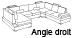 Canap� d'angle design Angle droit Lowing