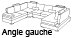 Canap� d'angle design Angle gauche Lowing