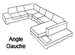Canap� d'angle design Angle gauche