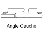 Canapé d'angle design Houston gauche