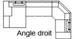 Canapé d'angle design Kubo-angle droit Chaise+3+C+1