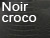 Chaise design noir croco