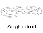 Canap� d'angle design angle droit okyo panoramique