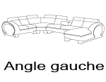 Canap� d'angle design angle gauche okyo panoramique